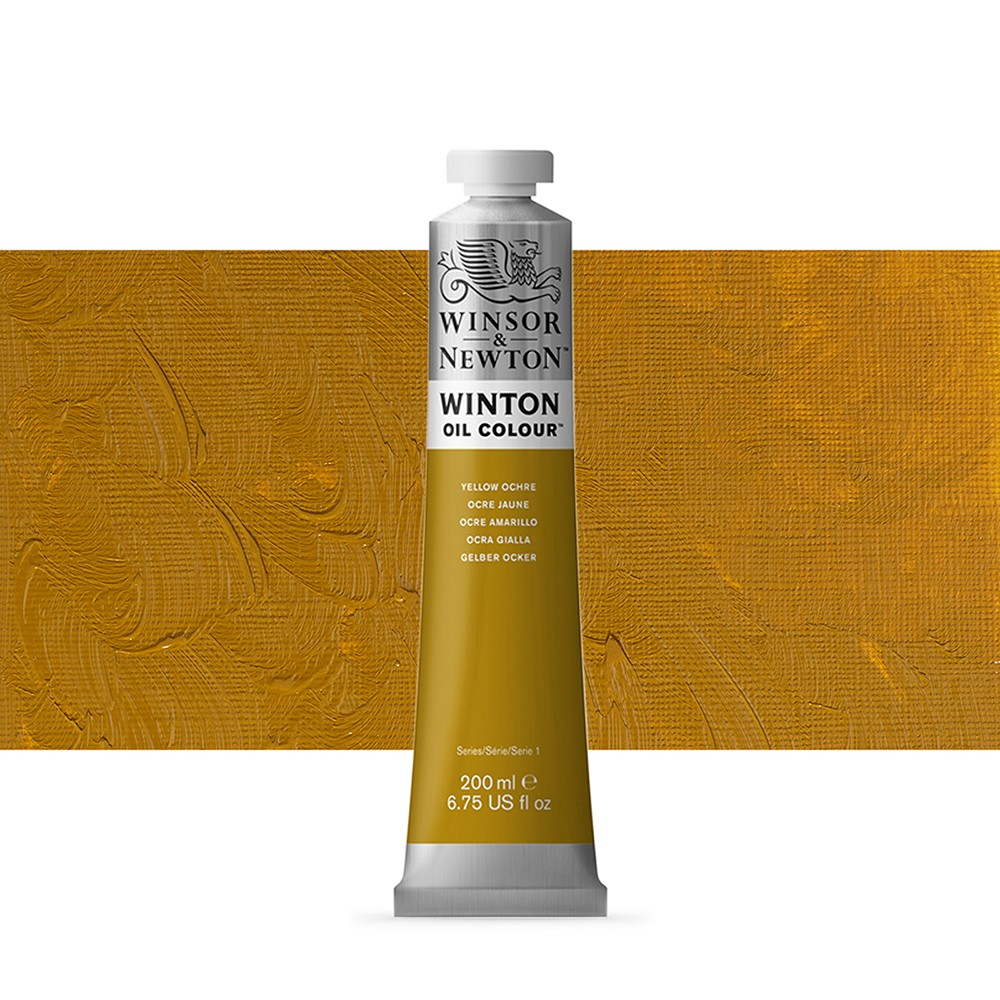 Winsor & Newton : Winton Oil Paint : 200ml : Yellow Ochre