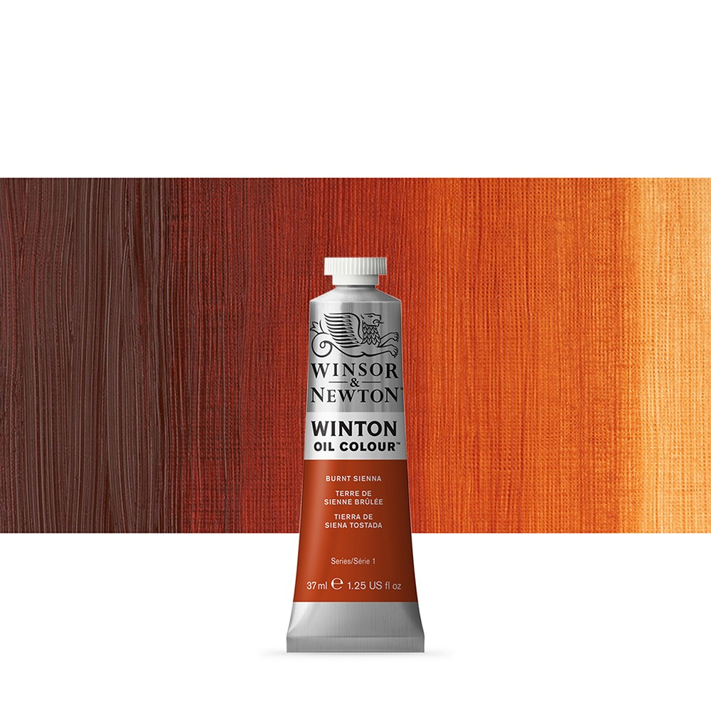 Winsor & Newton : Winton Oil Paint : 37ml : Burnt Sienna
