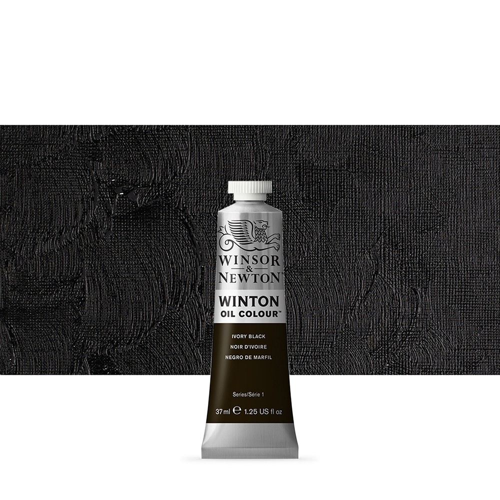 Winsor & Newton : Winton Oil Paint : 37ml : Ivory Black