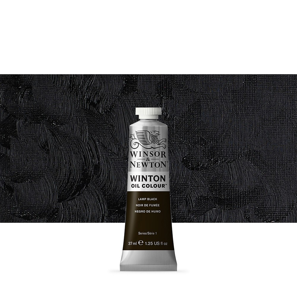 Winsor & Newton : Winton Oil Paint : 37ml : Lamp Black