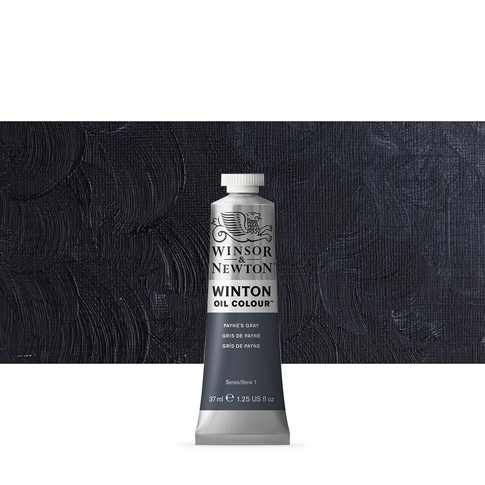 Winsor & Newton : Winton Oil Paint : 37ml : Paynes Grey