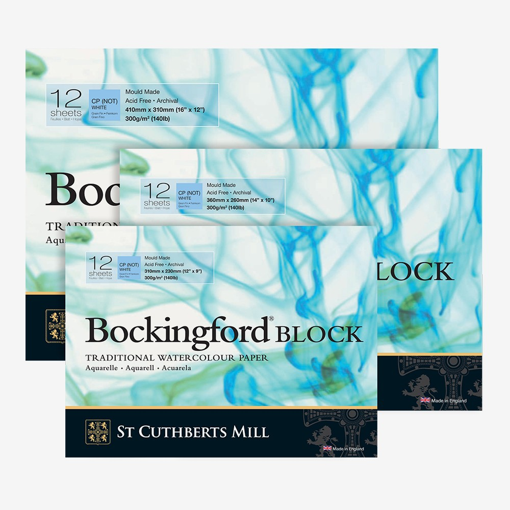 Bockingford : Watercolour Papers : White : Blocks : Not