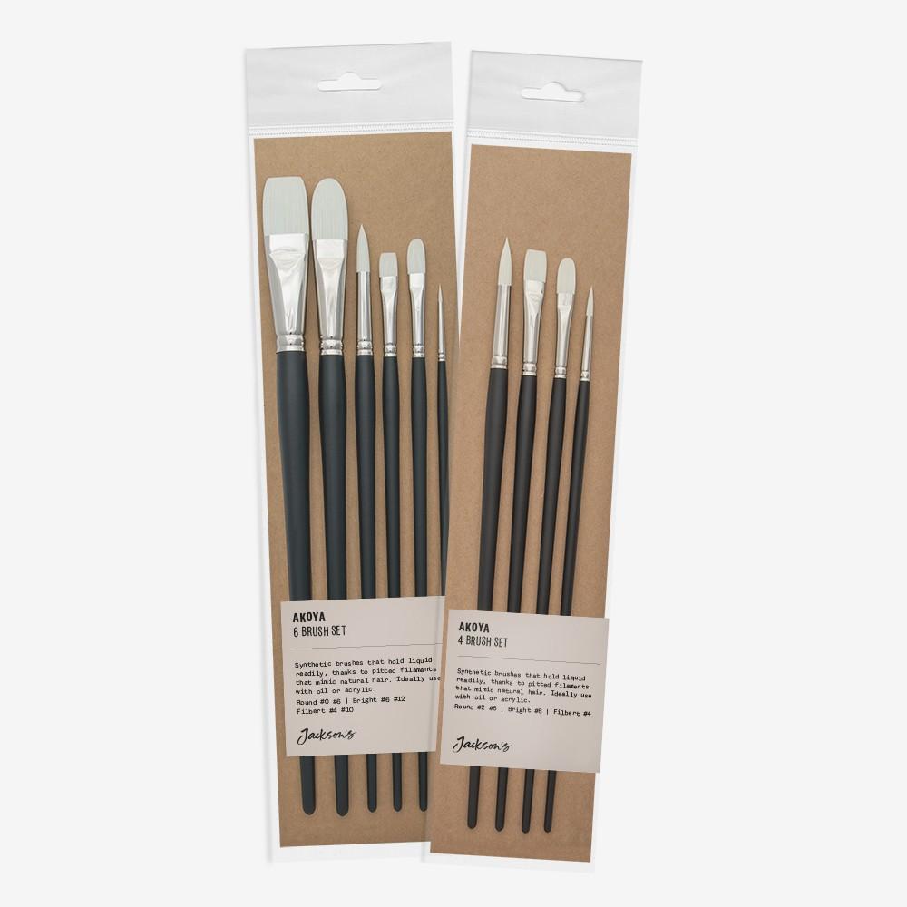 Jackson's : AKOYA White Synthetic Brushes : Sets