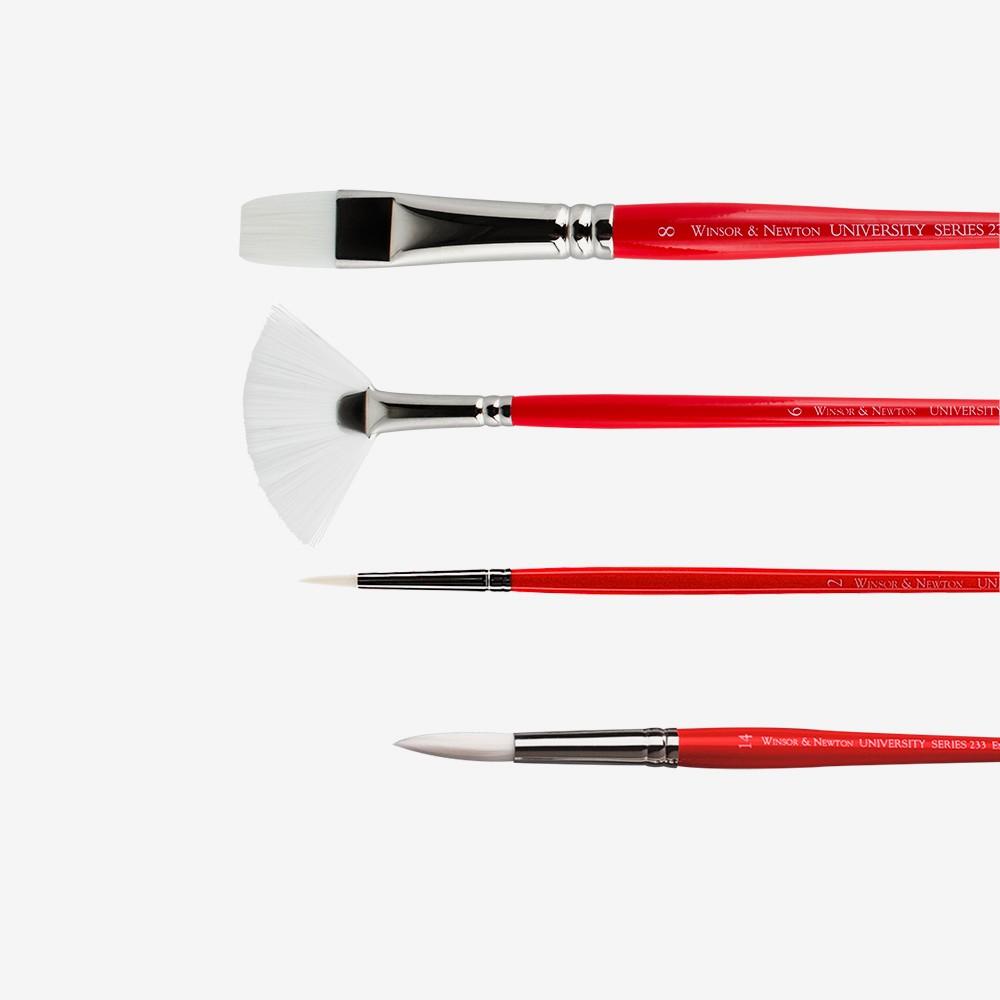 Winsor & Newton : University White Synthetic Brushes