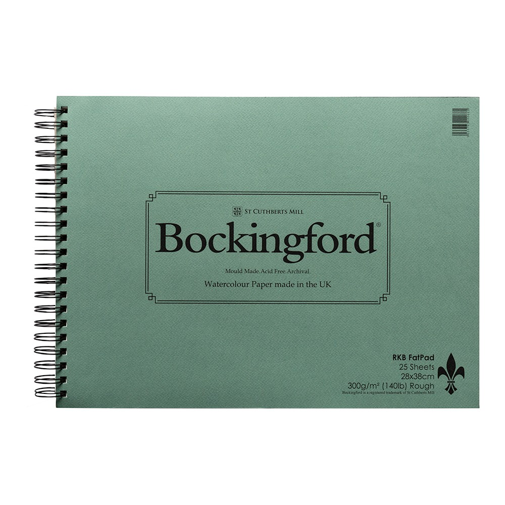 Bockingford : Spiral Fat Pad :11x15in : 25 Sheets : Rough