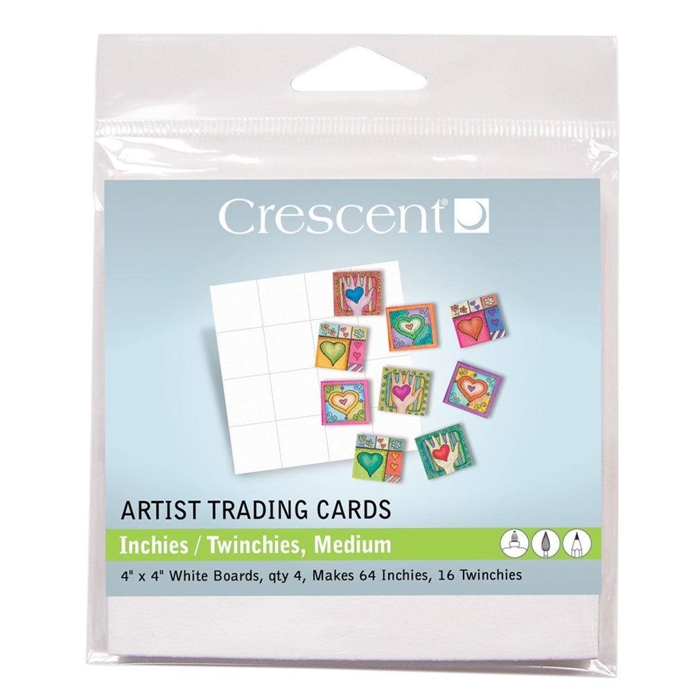 Crescent Artist Trading Cards : (TW) Inchies Medium White : 4 x4 Inch : Pack 2