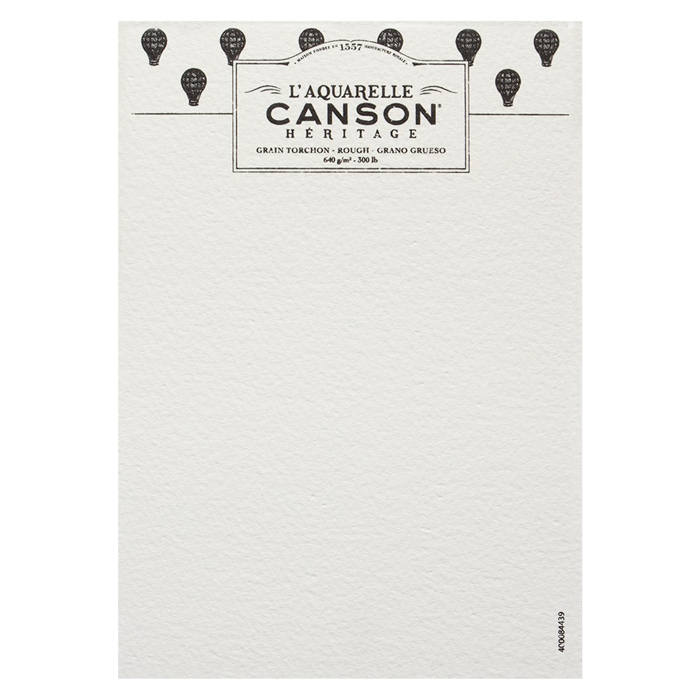 Canson : Heritage : Watercolour Paper : A5 : 640gsm : Rough : Sample : 1 Per Order