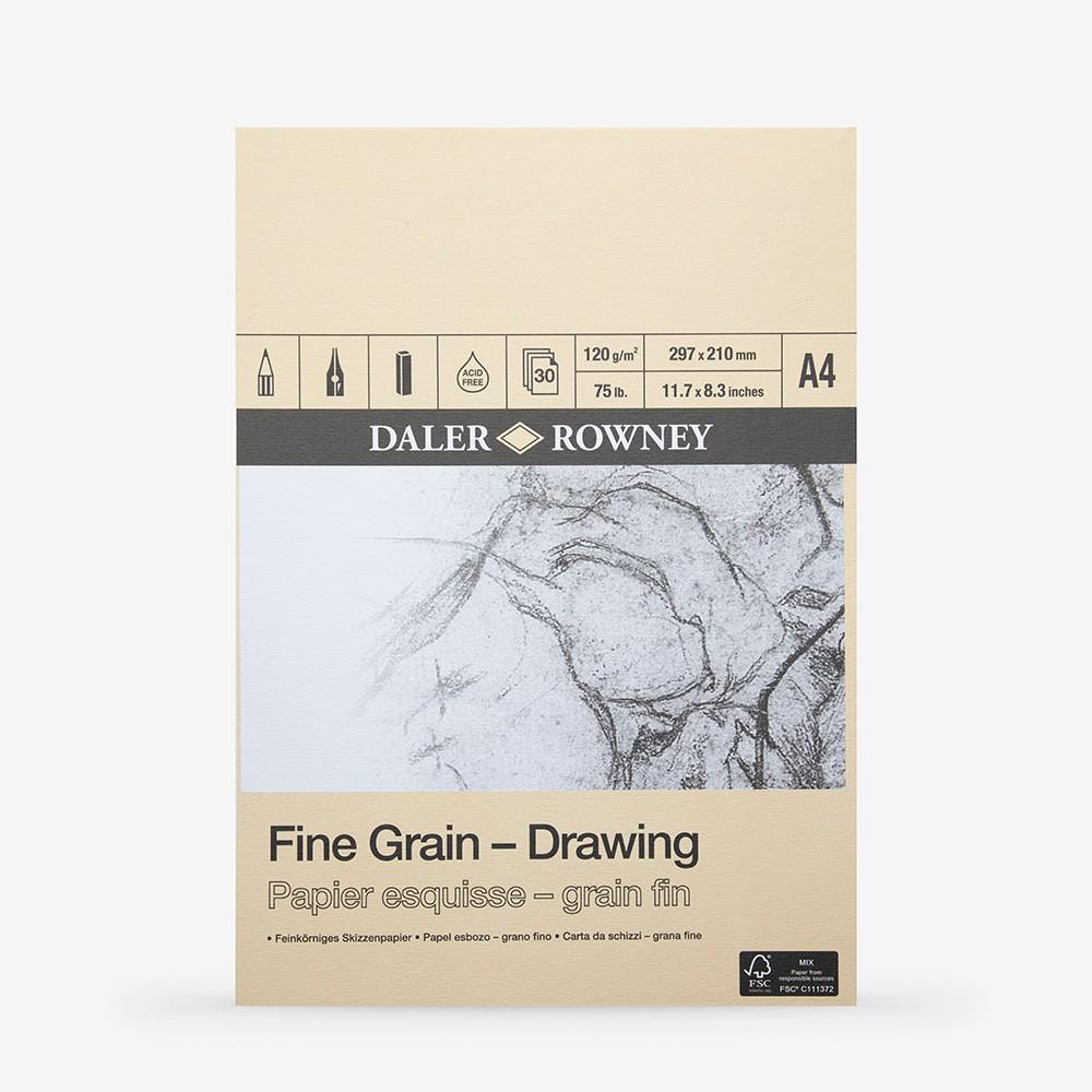 Daler Rowney : Fine Grain Drawing Pad : Cartridge Paper : 120gsm : A4