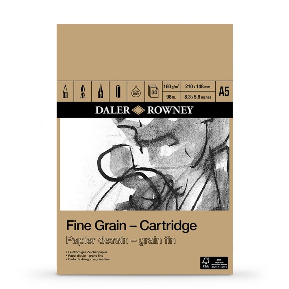 Daler Rowney : Fine Grain Drawing : Cartridge Pad : 160gsm : 30 Sheets : A5