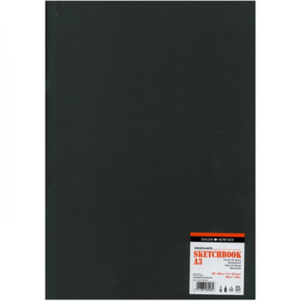 Daler Rowney : Graduate Stapled Softcover Sketchbook : 140gsm : 20 Sheets : A3