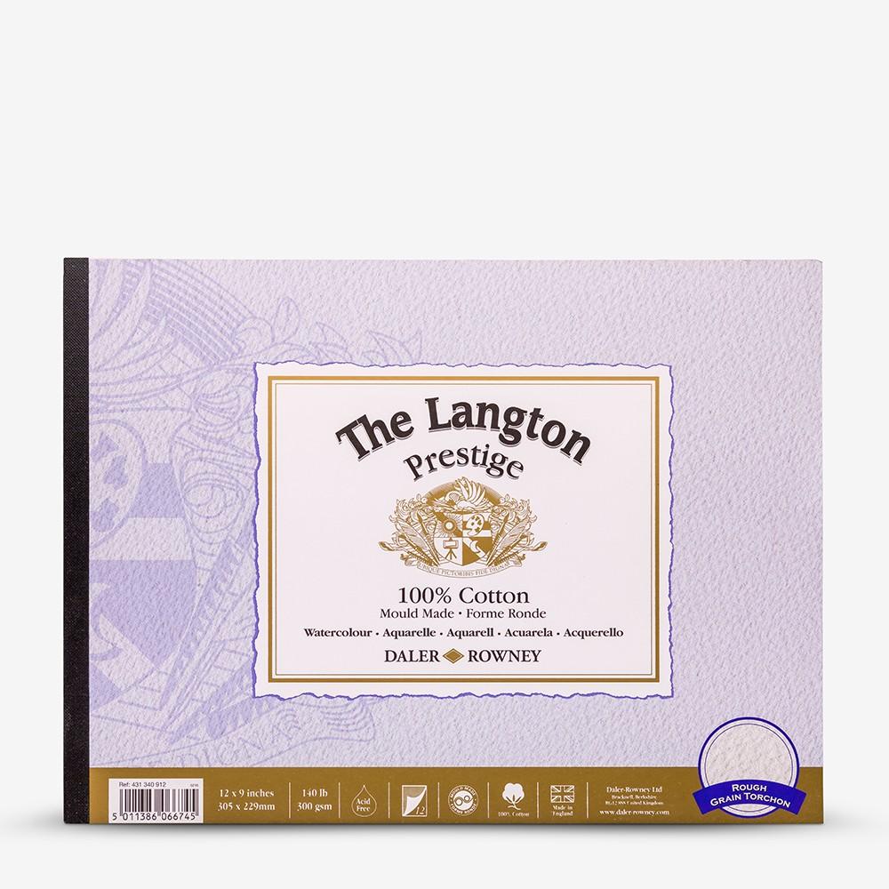 Daler Rowney : Langton : Prestige : Watercolour Paper : Glued : 9x12in : Rough