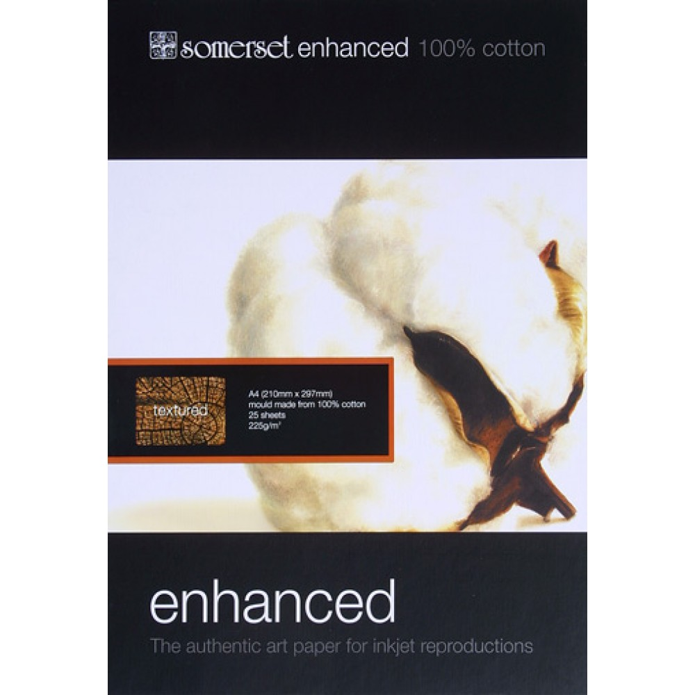 Somerset : Enhanced Textured Digital Paper : A4 : Box of 25s