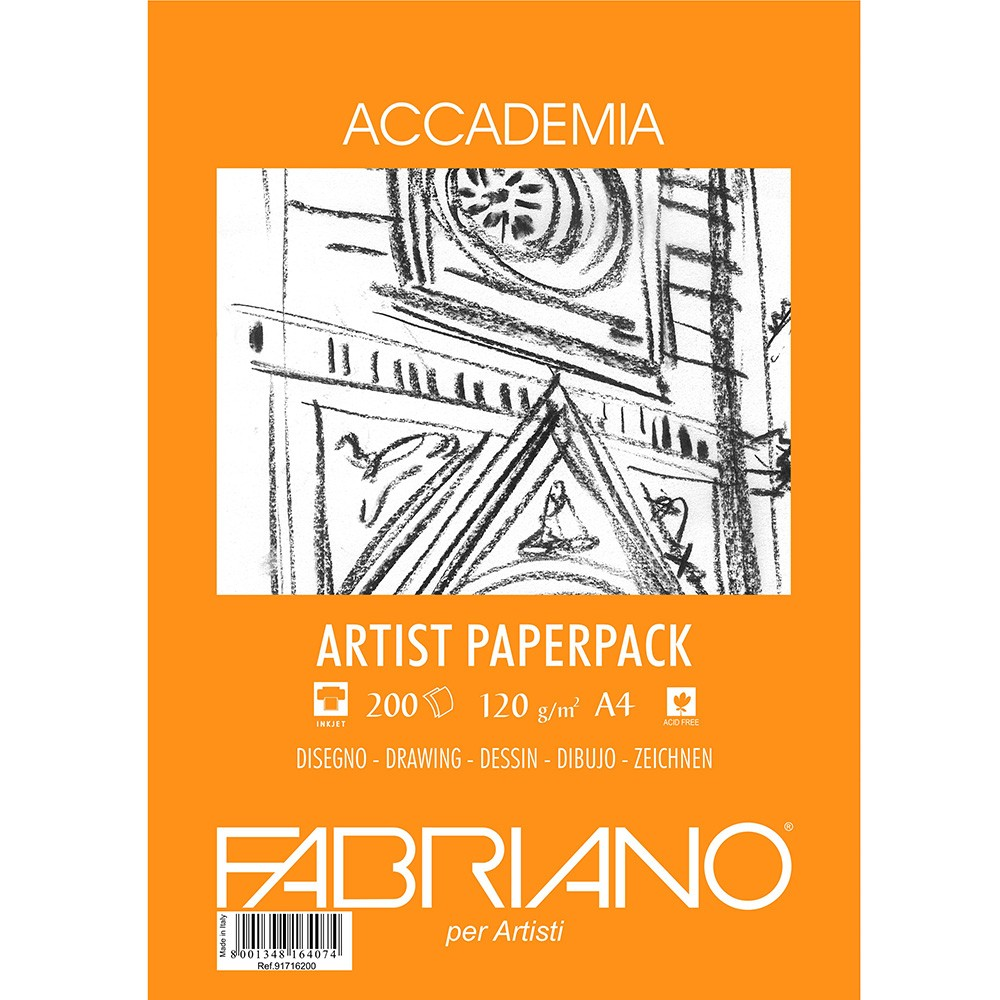 Fabriano : Accademia Drawing Paper A4 120gsm 200sheets