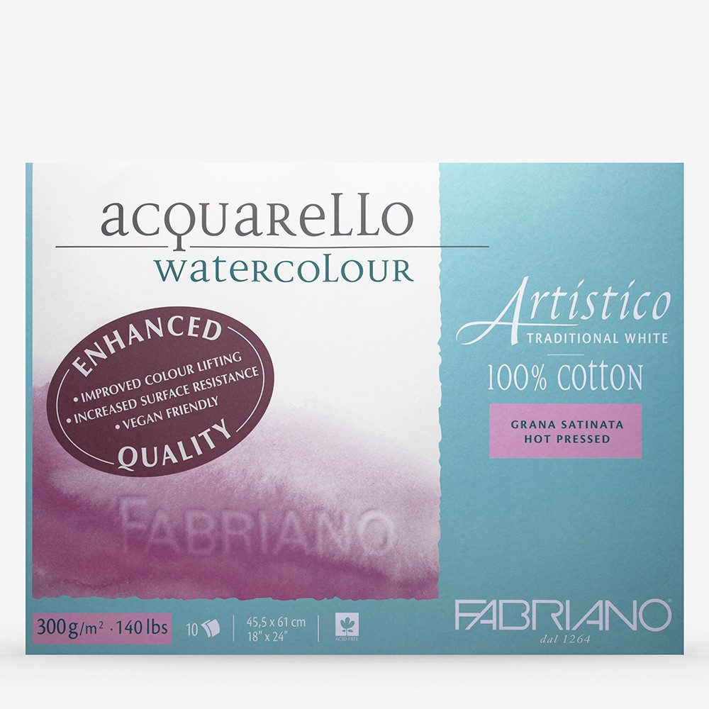 Fabriano : Artistico : Block : 18x24in : 10 Sheets : Traditional : HP