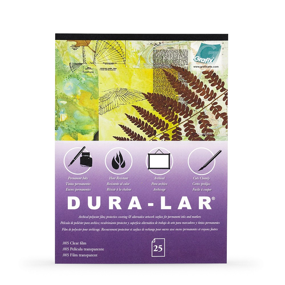 Grafix : Clear .005in Dura-Lar 1114in Pad : 25 Sheets