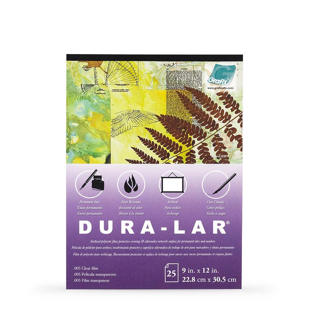 Grafix : Clear .005in Dura-Lar 9x12in Pad : 25 Sheets