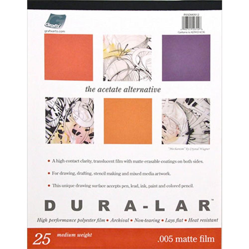 Grafix : Matte .005 inch Dura-Lar 14 x 17 inch Pad : 25 Sheets
