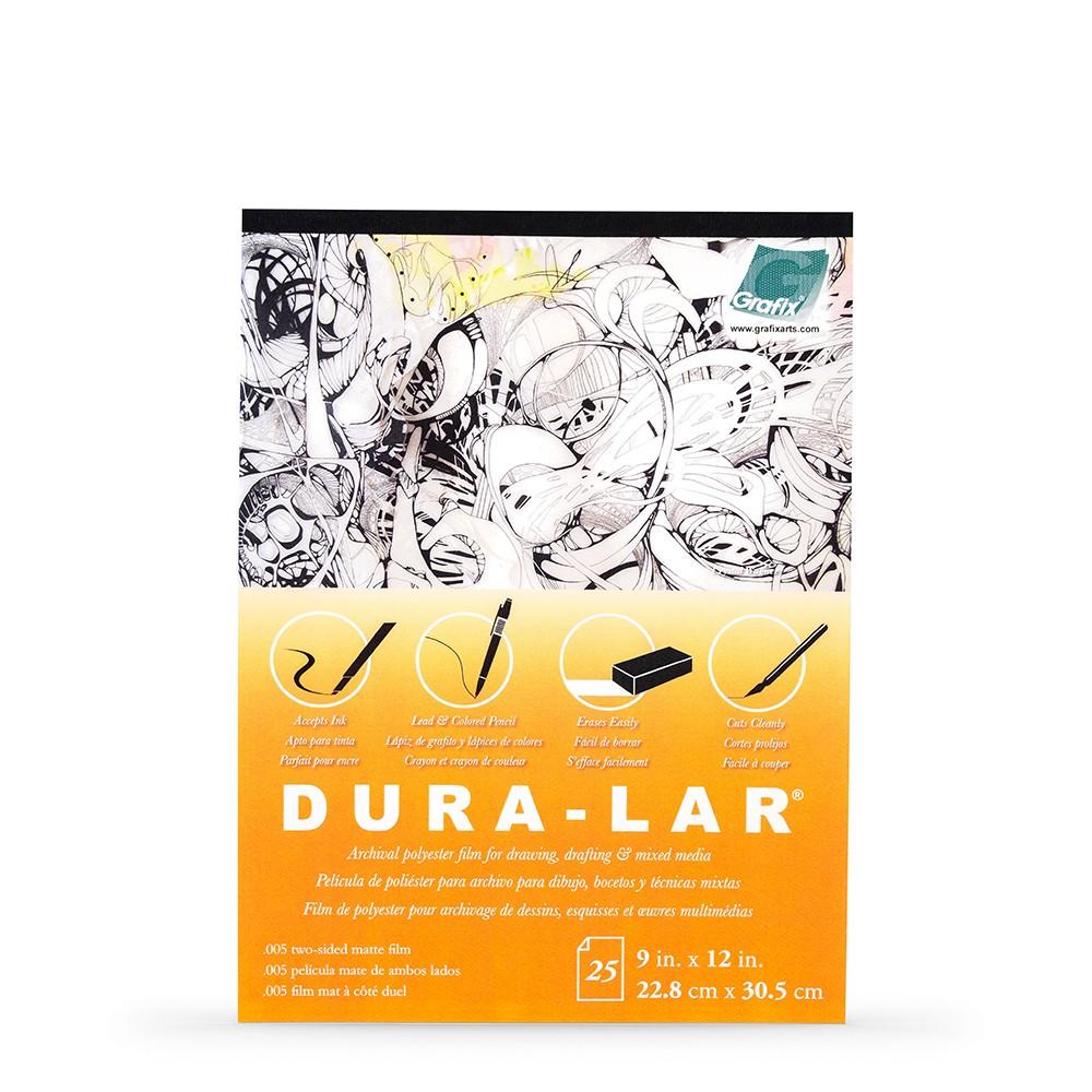 Grafix : Matte .005 inch Dura-Lar 9 x 12 inch Pad : 25 Sheets