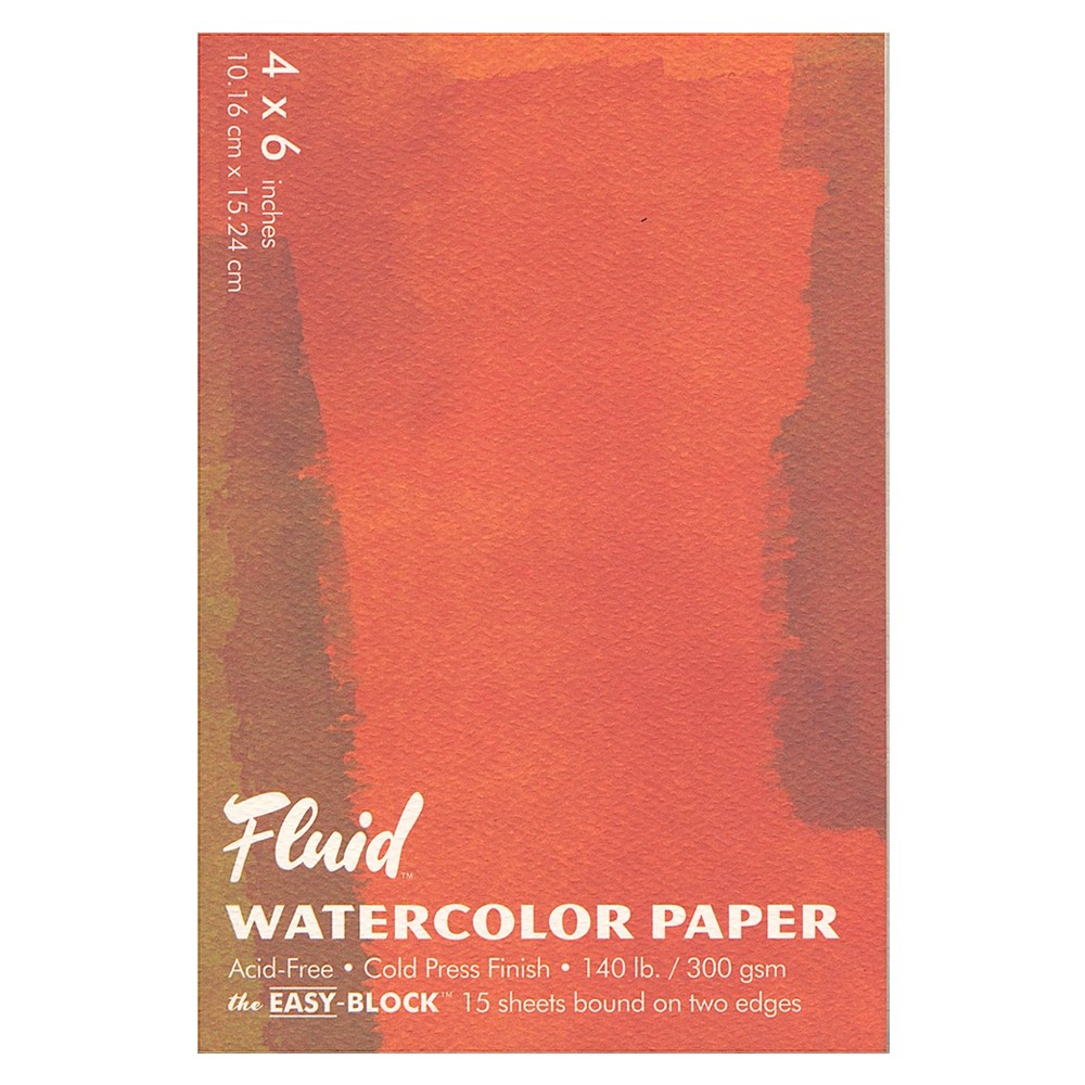 Global : Fluid Easy Block : Watercolour Paper : 300gsm : 4x6in : Cold Pressed