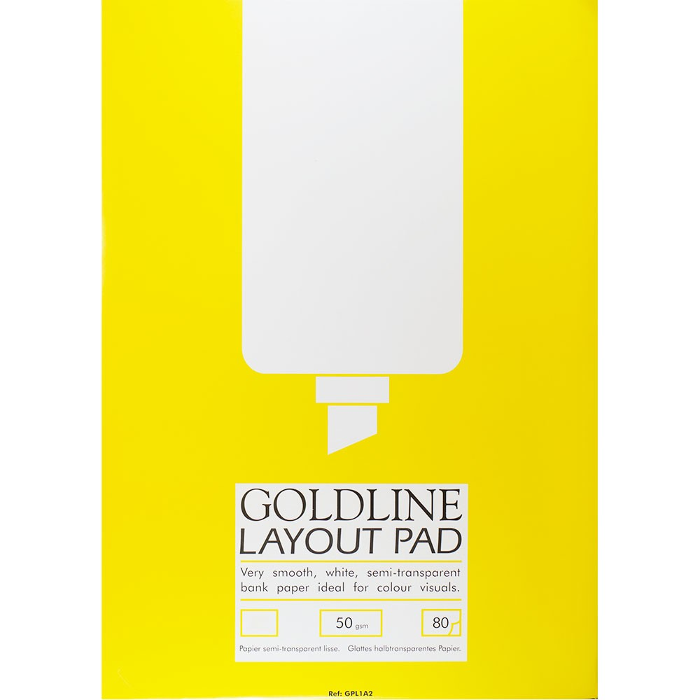 Goldline : Layout Pad : 50gsm : 210x297mm (A4 21x29.7cm)