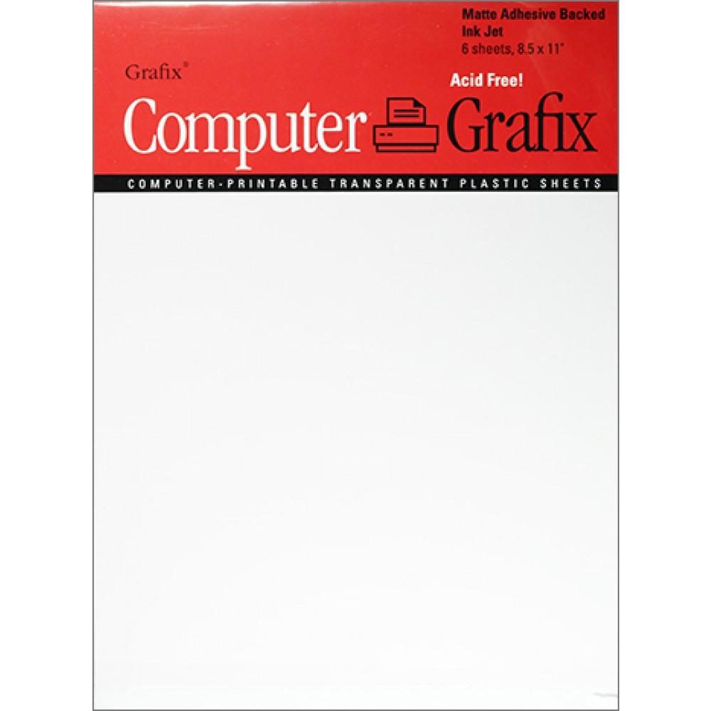 Grafix : Matte Adhesive Backed Film for Inkjet A4 : 6 Pack