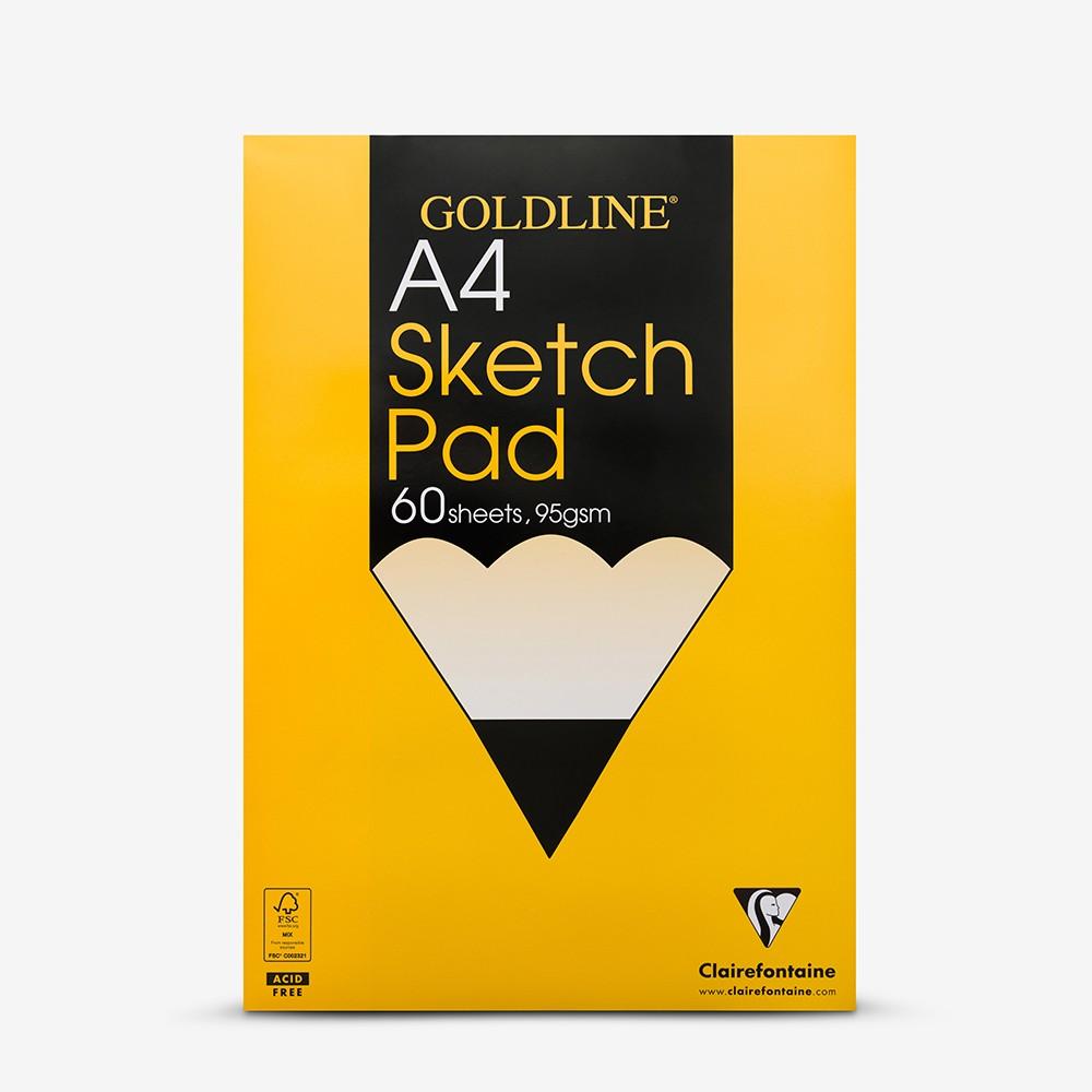 Goldline : Glued Sketch Pad : 95gsm : 210x297mm (A4 21x29.7cm)