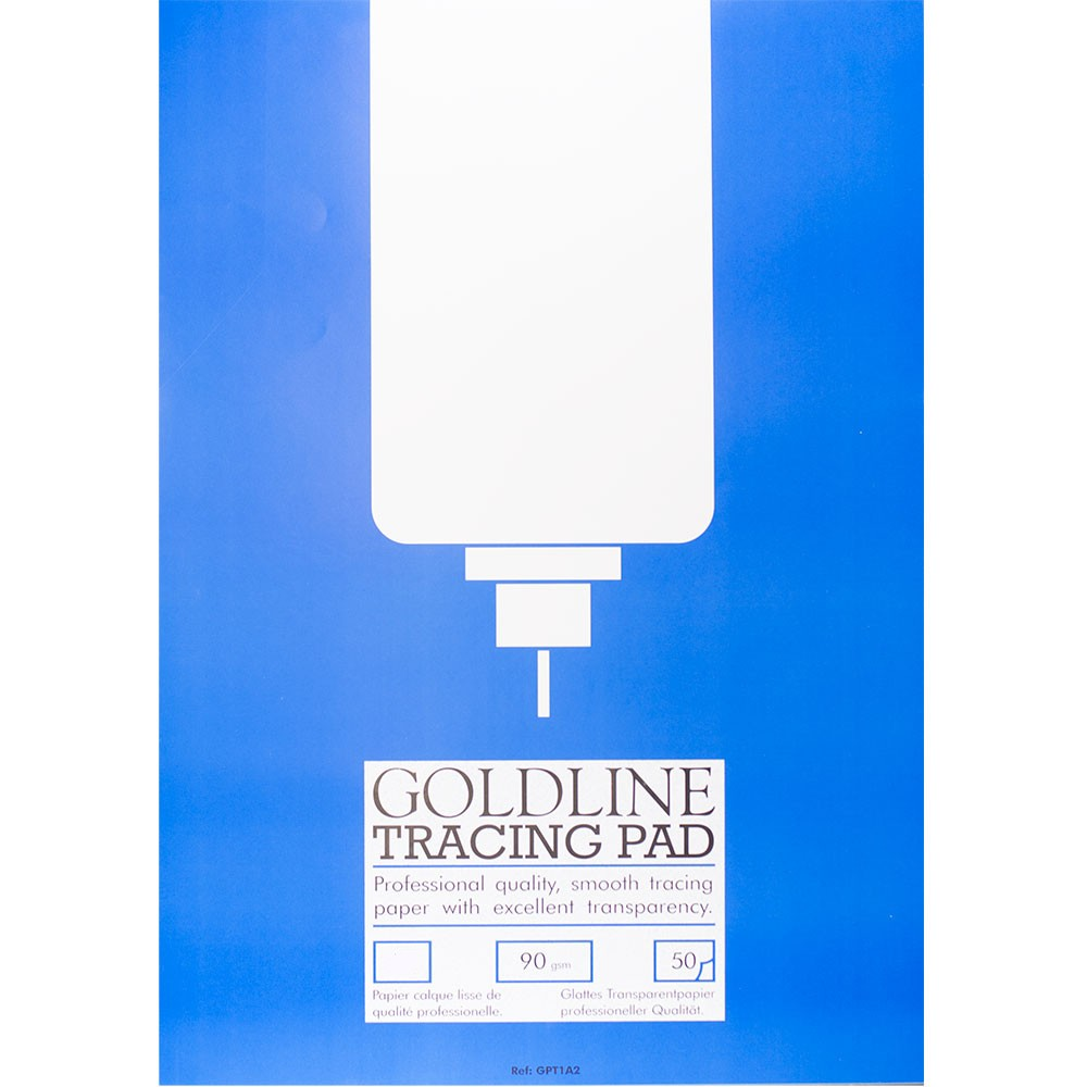 Goldline : Professional Tracing Pad : 90gsm : 210x297mm (A4 21x29.7cm)