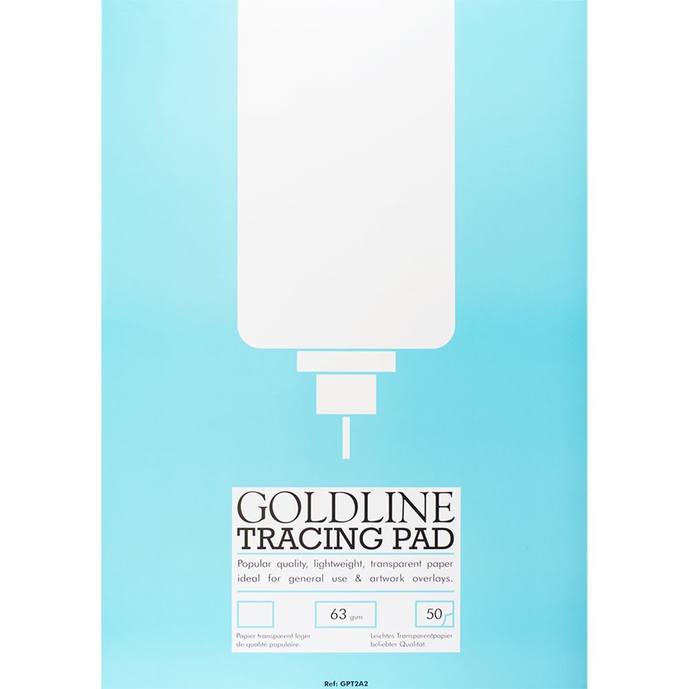 Goldline : Popular Tracing Pad : 63gsm : 420x594mm (A2 42x59.4cm)