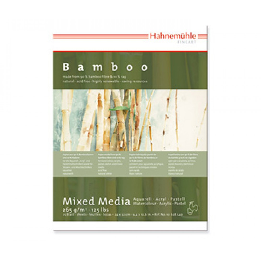 Hahnemuhle : Bamboo : Multi Media Paper : Pad : 36x48cm : 265gsm : 25 Sheets