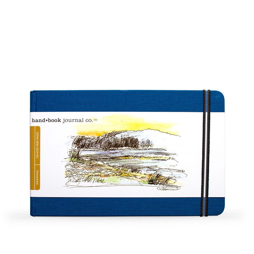Hand Book Journal Company : Drawing Journal : 5.5x8.25in : Landscape : Ultramarine Blue