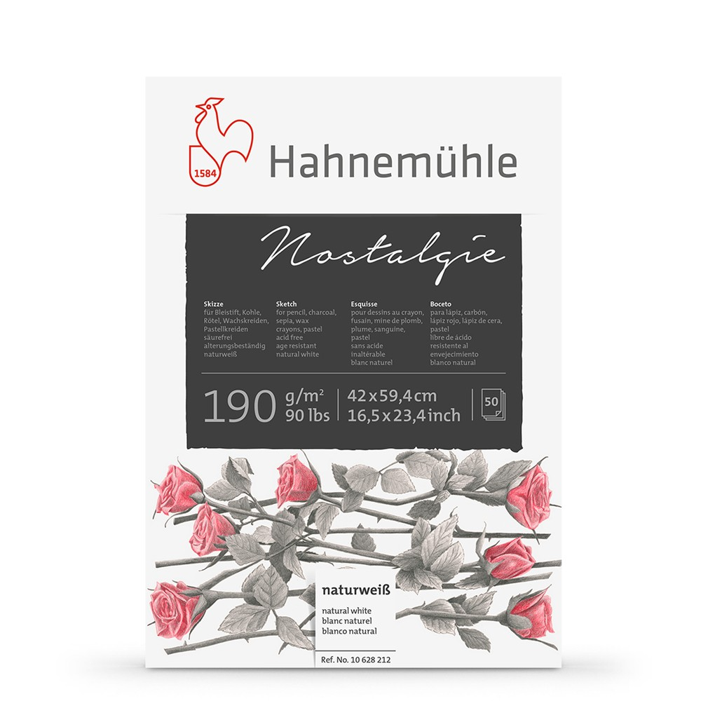 Hahnemuhle : Nostalgie Sketch Pad : 190gsm : 50 Sheets : Natural White : A2