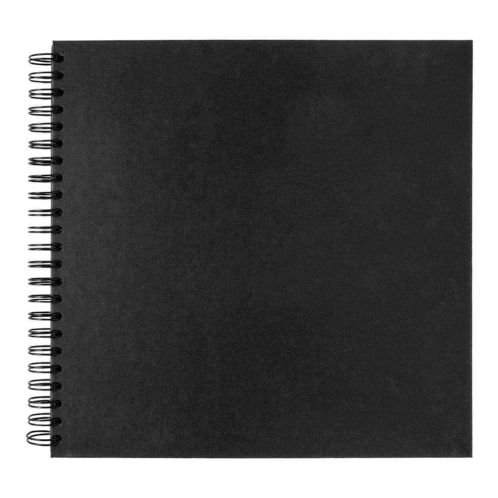 Seawhite : 30x30cm Black Card 220gsm : 40 Sheets : spiral pad