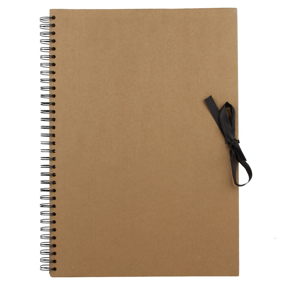 Seawhite : Jackson's : A3 Brown Paper Display Book : 40 sheets : spiral pad