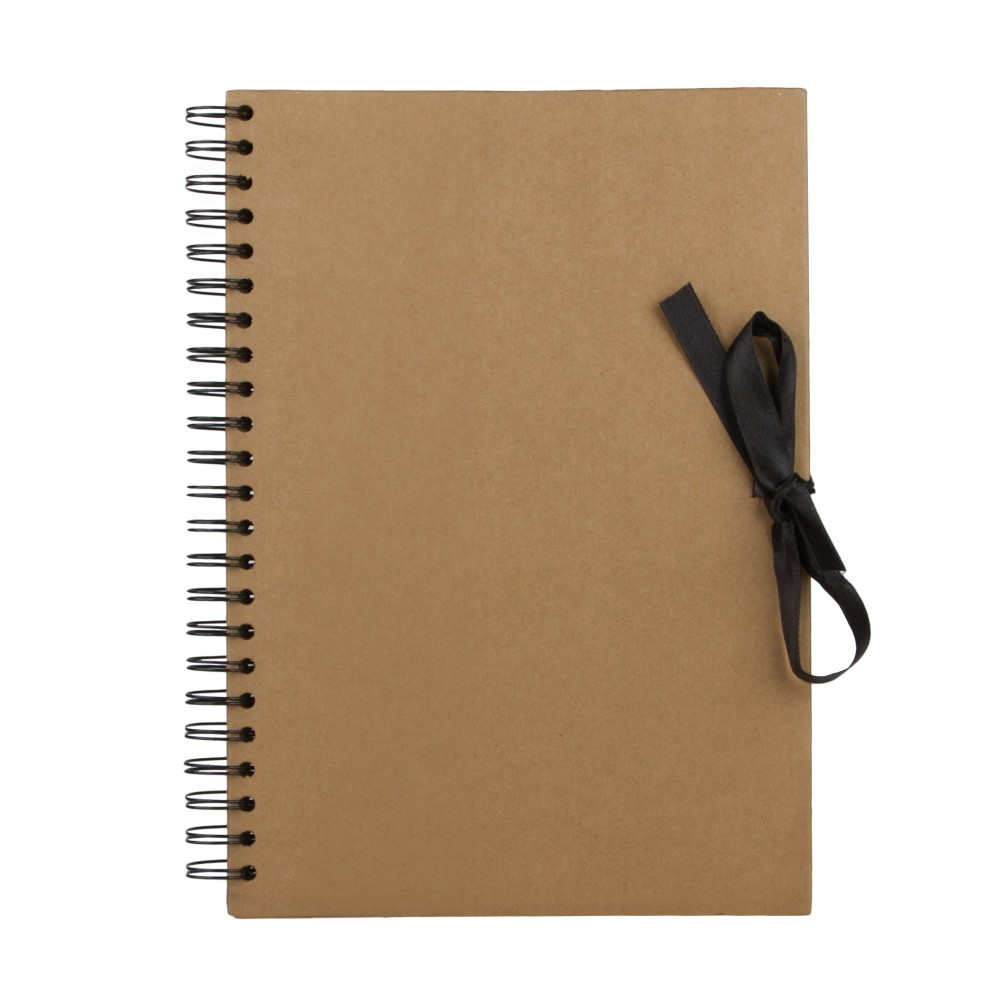 Seawhite : A4 Brown Paper Display Book : 40 sheets : spiral pad