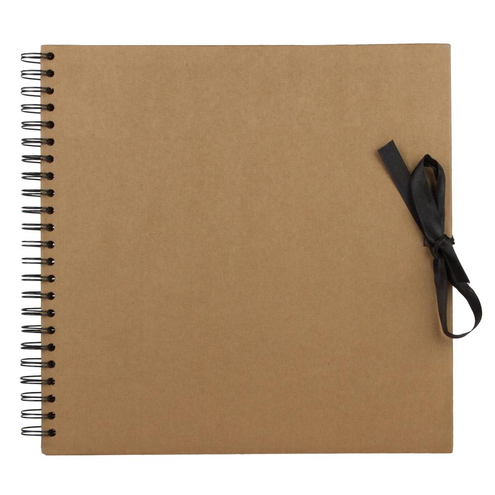 Seawhite : 30x30 Brown Paper Display Book : 40 sheets : spiral pad