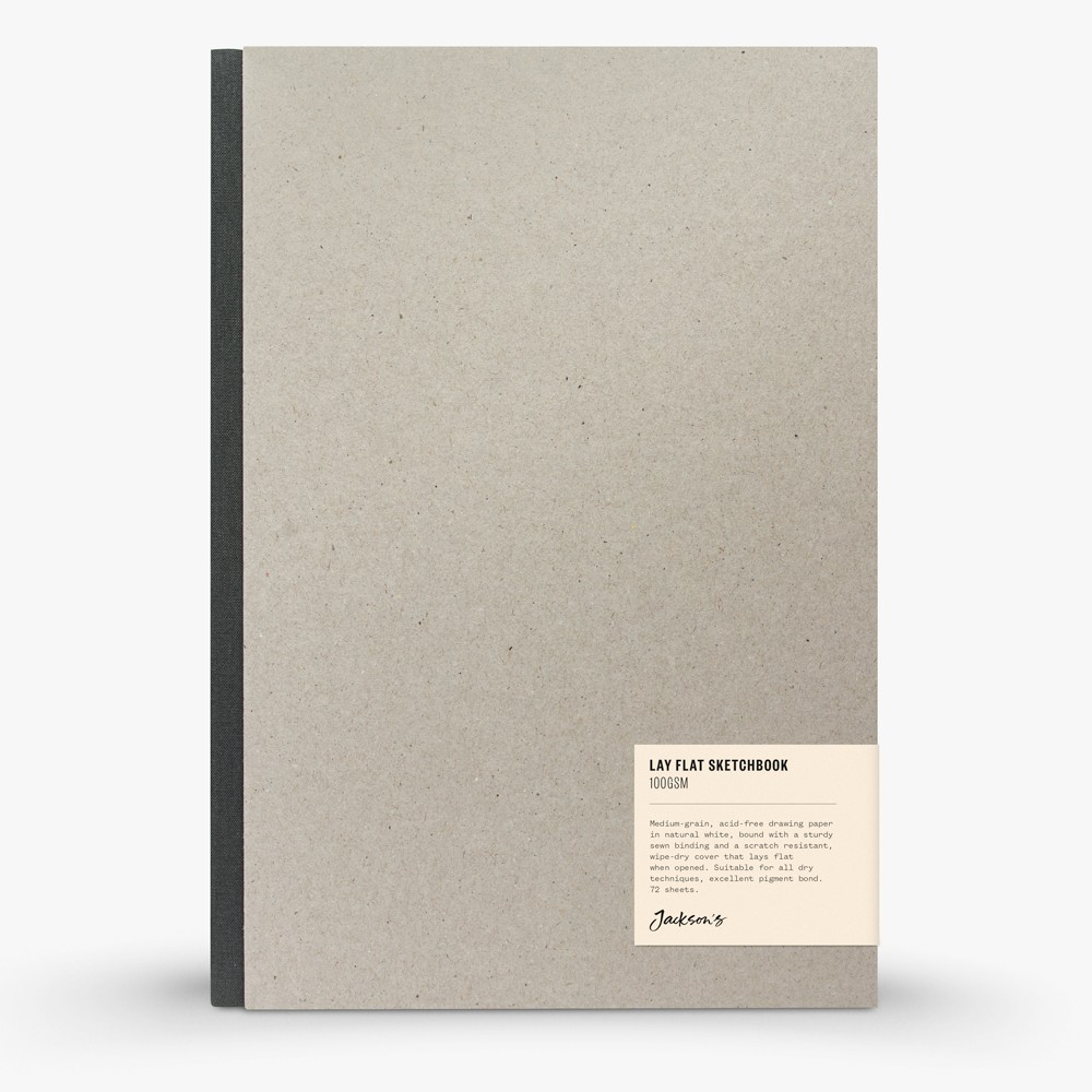 Jackson's : Lay-Flat Hardcover Sketchbook : 100gsm : 72 Sheets : A4 : Portrait