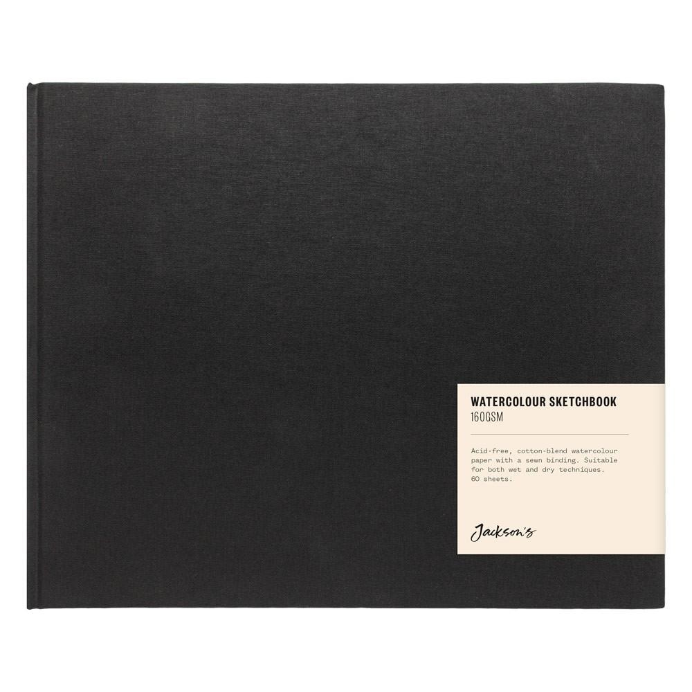Jackson's : Watercolour Sketchbook : 160gsm : 60 Sheets : 24x20.6cm : Landscape