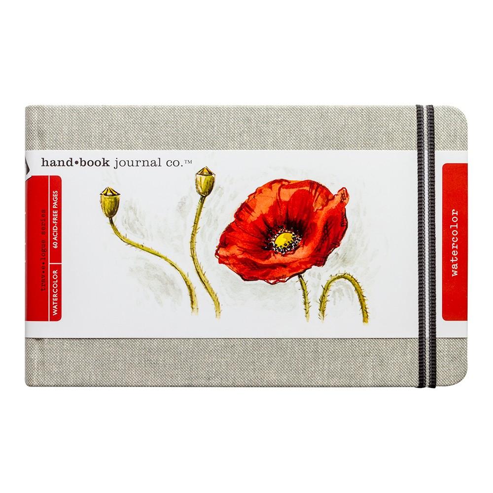 Natural Linen Watercolour Journal 5.25x8.25in. Large Landscape