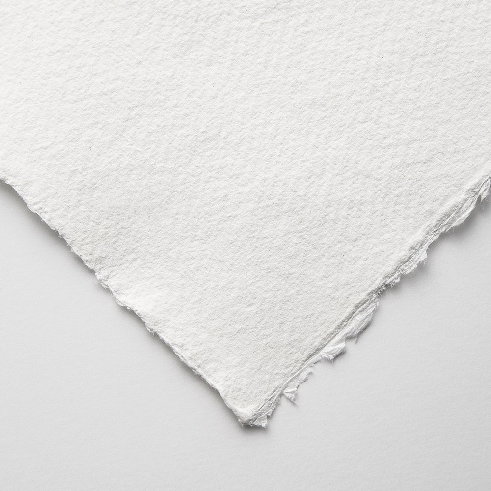 Khadi : White Rag Paper 150gsm : Medium : 15x21cm : Pack of 20 Sheets
