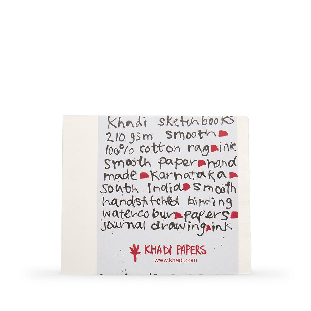 Khadi : Handmade Bound Sketchbook 210gsm : Smooth : 21x25cm : 40 Pages