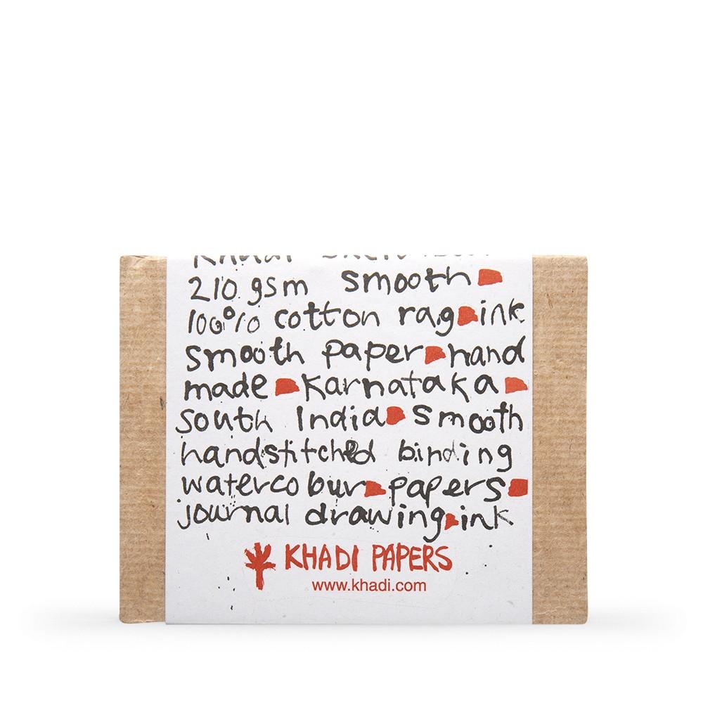 Khadi : Handmade Hard Back Sketchbook 210gsm : Smooth : 13x16cm : 40 Pages