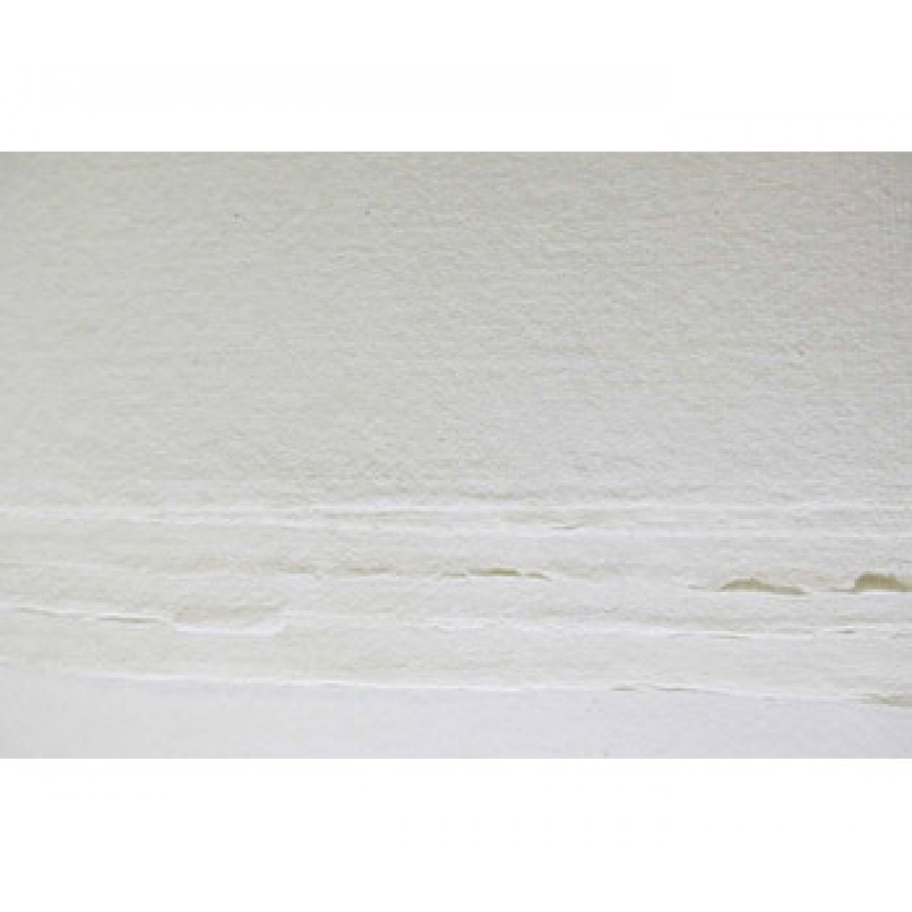 Khadi Handmade White Rag Paper 210gsm : Rough : 56x76cm : 20 Sheets