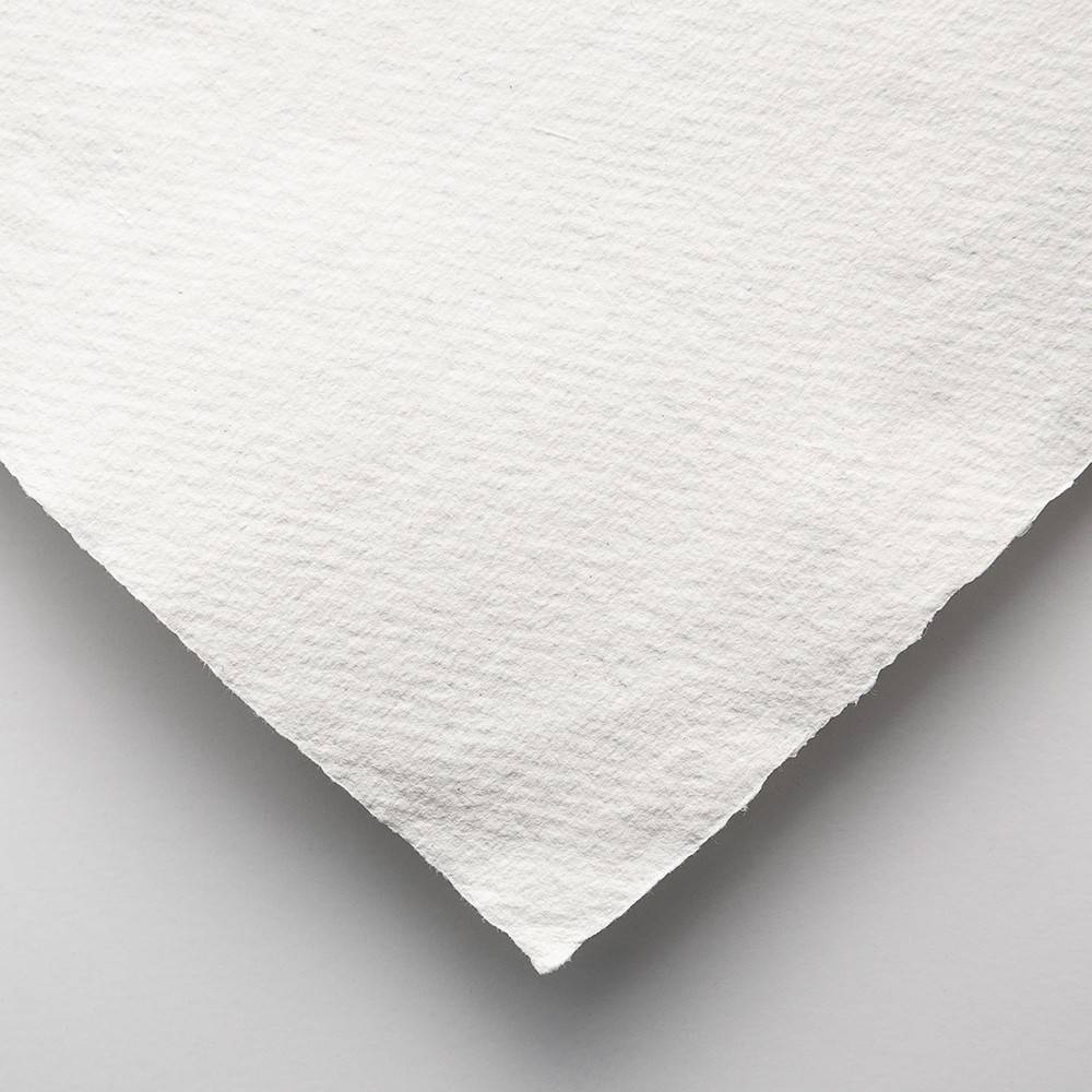Khadi Handmade White Rag Paper 320gsm : Rough : 56x76cm : 20 Sheets