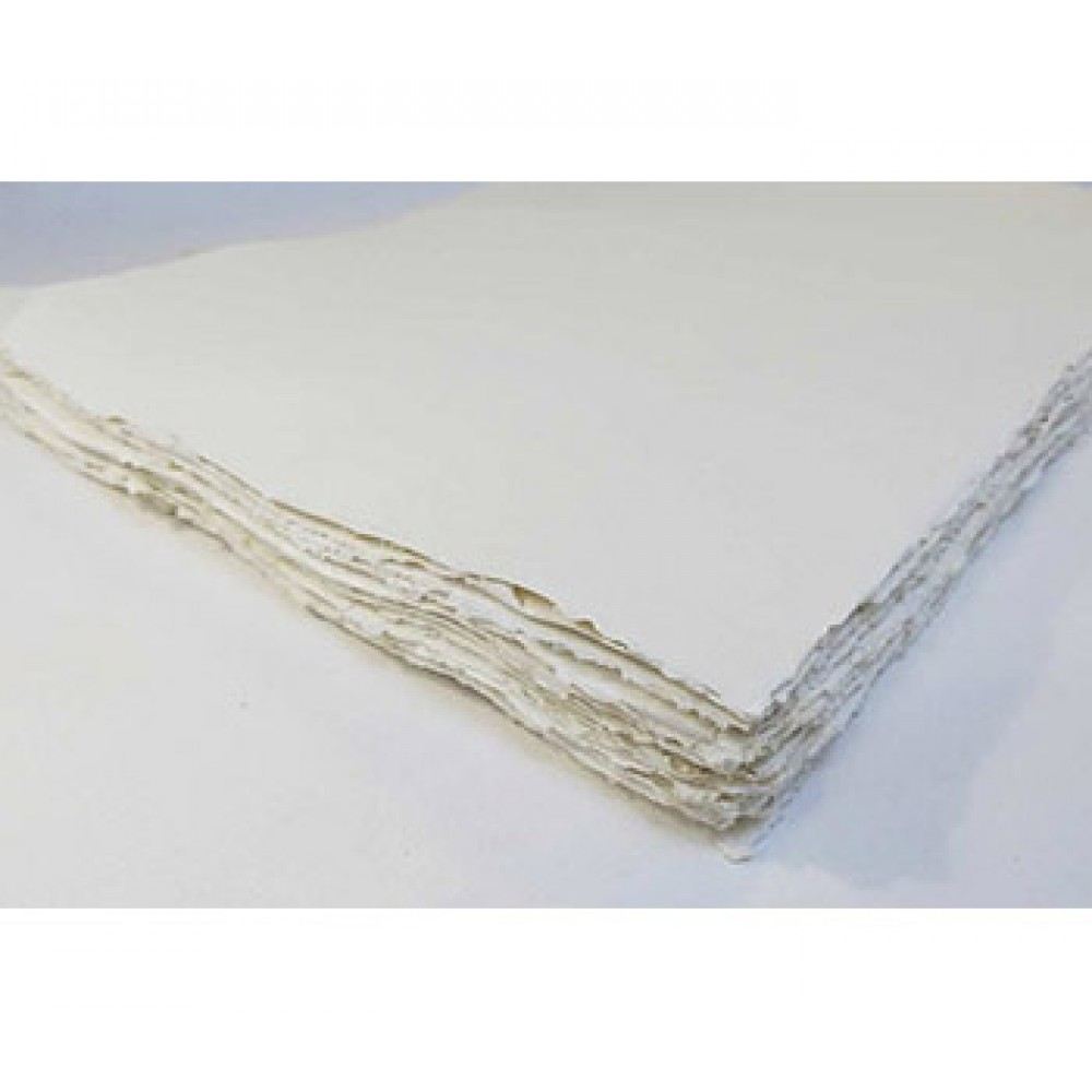 Khadi White Rag Landscape Paper 320gsm : Rough : 35x70cm