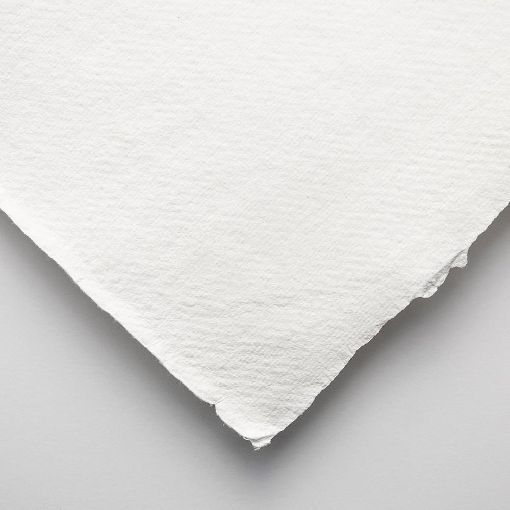 Khadi Handmade White Rag Paper 320gsm : Smooth : 56x76cm : 10 Sheets