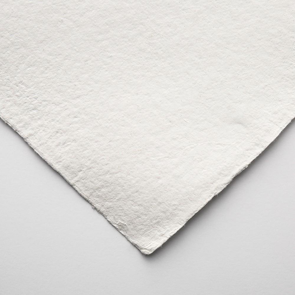 Khadi Handmade White Rag Paper 640gsm : Smooth : 56x76cm : 10 Sheets