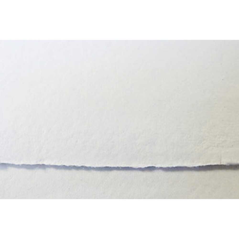 Khadi Handmade White Rag Paper 640gsm : Smooth : 56x76cm : 20 Sheets