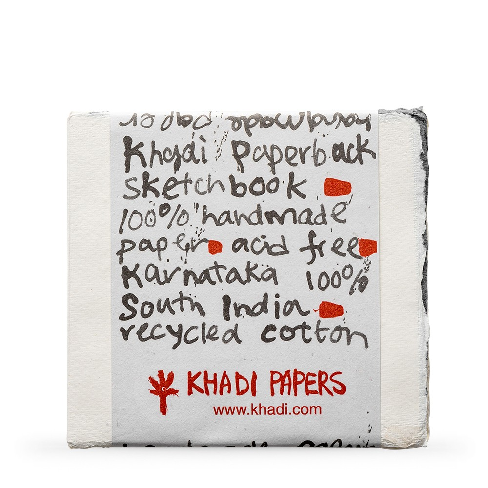 Khadi Handmade Watercolour Paper Pad 150gsm : Rough : 15 Sheets : 15x15cm