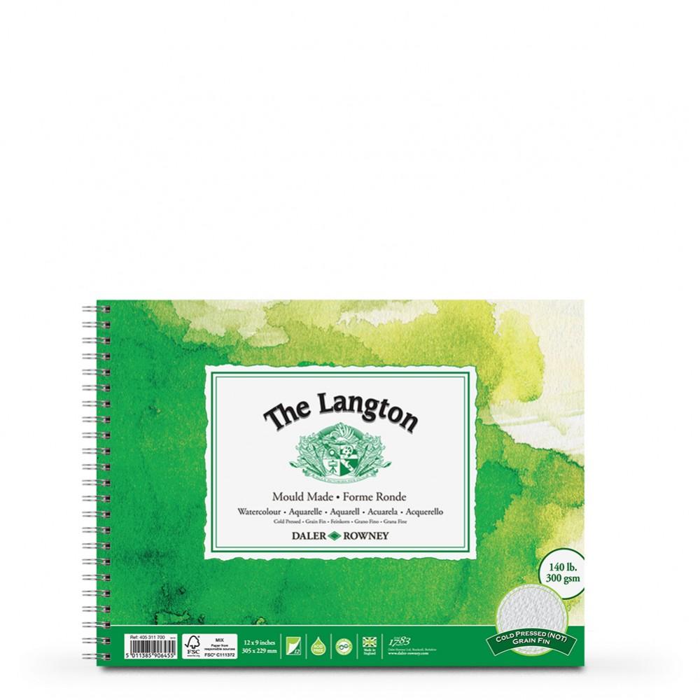 Daler Rowney : Langton : 9x12in : Watercolour Paper Pad : 300gsm : Not