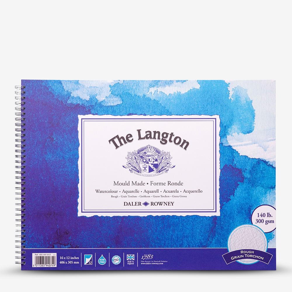 Daler Rowney : Langton : 12x16in : Watercolour Paper Pad : 300gsm : Rough